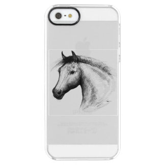 Horse:  White Clear iPhone SE/5/5s Case