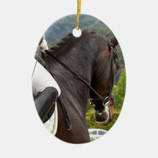 Horse with Raising Ceramic Oval Decoration