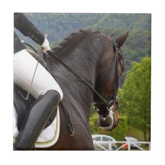 Horse with Raising Ceramic Tile