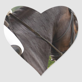 Horse with Raising Heart Sticker