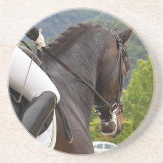 Horse with Raising Sandstone Coaster