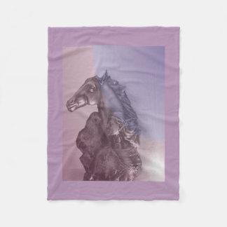 HORSE WOMAN - NATIVE AMERICAN FLEECE BLANKET