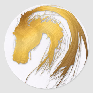 Horse Year Chinese Zodiac Round Sticker
