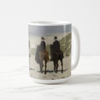 Horseback Ride along the Beach - Art Mug