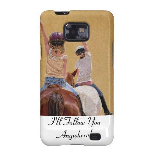 Horseback Riding Blackberry Curve Case Galaxy SII Cover