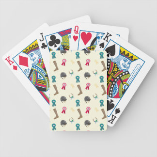 Horseback Riding in a modern style Bicycle Playing Cards