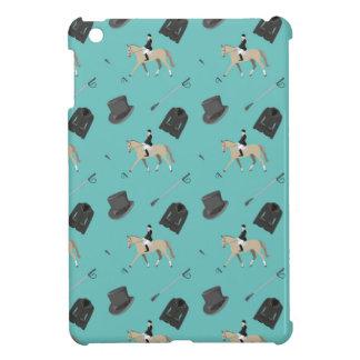 Horseback riding in a modern style iPad mini case