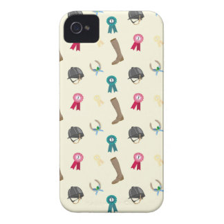 Horseback Riding in a modern style iPhone 4 Cases