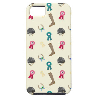 Horseback Riding in a modern style iPhone 5 Cases