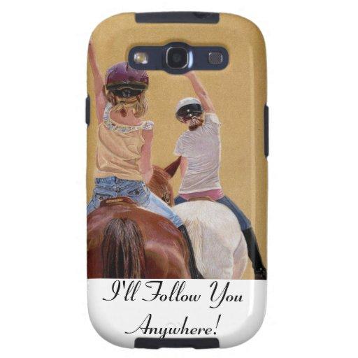 Horseback Riding Samsung S3 Case Galaxy SIII Case