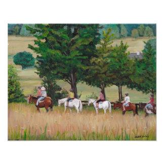 Horseback Tour of Gettysburg Battlefield Art Photo