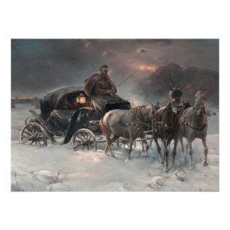Horsedrawn Wagon at Night Invite