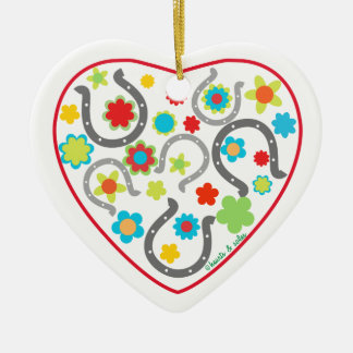 Horsehoe Heart Ornament