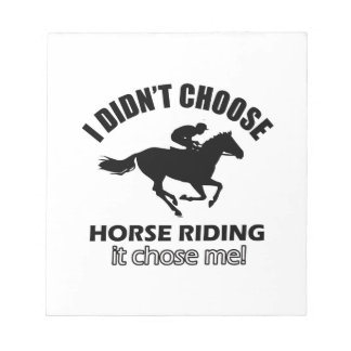 horseriding designs notepad