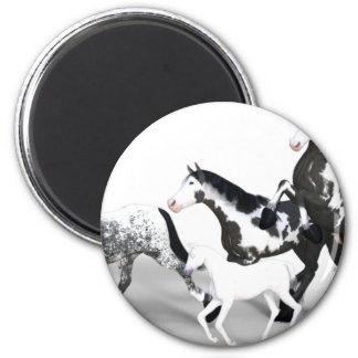 horses-1530858 6 cm round magnet