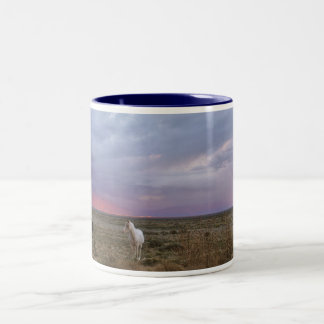 Horses After the Storm Two-Tone Coffee Mug