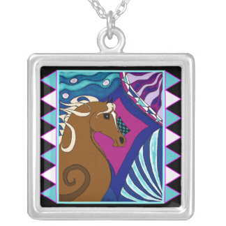 Horses and Diamonds are Forever Necklace