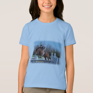 Horses and Show Jumping Girl's T-Shirt