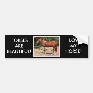 HORSES ARE BEAUTIFUL! CAR BUMPER STICKER