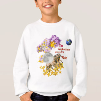 Horses are giving back the Moon to the Earth. Sweatshirt