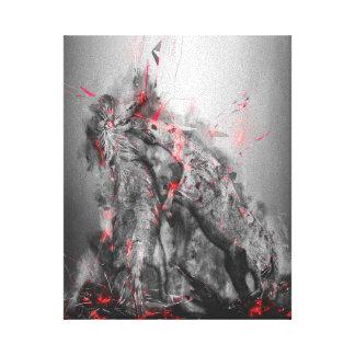 Horses art - Stallions fighting till the death Canvas Print