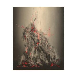 Horses art - Stallions fighting till the death Wood Prints