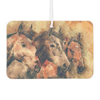 Horses Artistic Watercolor Painting Decorative