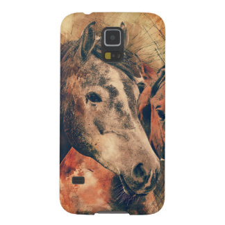 Horses Artistic Watercolor Painting Decorative Galaxy S5 Case