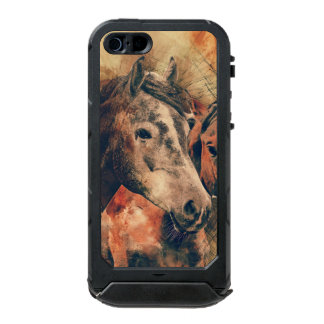 Horses Artistic Watercolor Painting Decorative Incipio ATLAS ID™ iPhone 5 Case