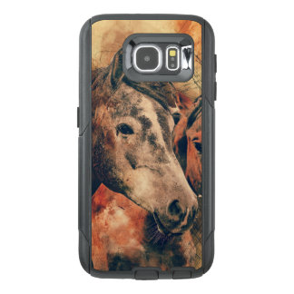 Horses Artistic Watercolor Painting Decorative OtterBox Samsung Galaxy S6 Case