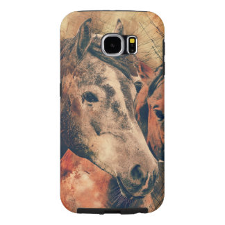 Horses Artistic Watercolor Painting Decorative Samsung Galaxy S6 Cases
