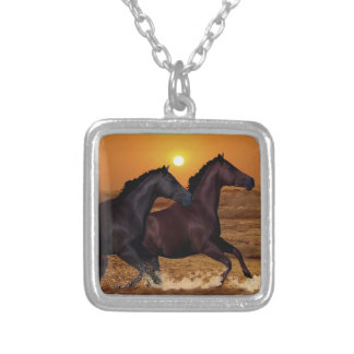 Horses at sunset jewelry