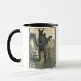 Horses at the Water Trough, 1884 (oil on canvas) Mug