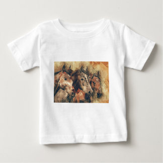 Horses, brown baby T-Shirt