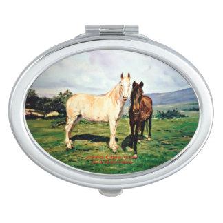 Horses/Cabalos/Horses Compact Mirror
