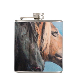 Horses/Cabalos/Horses Hip Flask