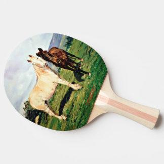 Horses/Cabalos/Horses Ping Pong Paddle