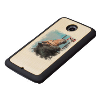 Horses/Cabalos/Horses Wood Phone Case