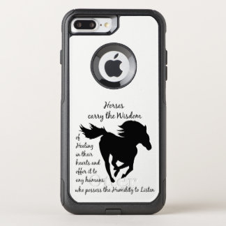 Horses Carry the Wisdom of Healing Quote OtterBox Commuter iPhone 8 Plus/7 Plus Case