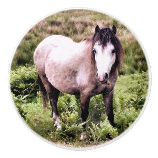 HORSES CERAMIC KNOB