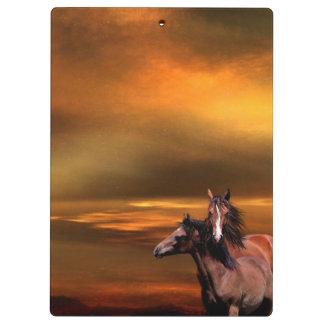 Horses Clipboard