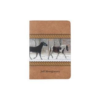 Horses Custom Passport Holder