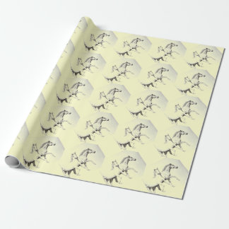 Horses, equestrian new wrapping paper