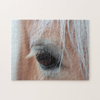 Horse's eye close up photo jigsaw puzzle