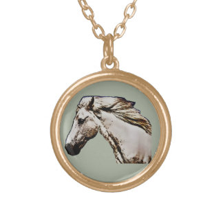 Horse's Head Gold Plated Necklace
