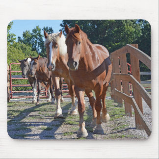 Horses Headed Back To The Barn Mouse Pad