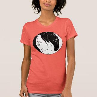 Horse's heads yin yang T-Shirt