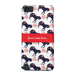 Horses Hearts and Roses Pattern ipod Touch 5g Case