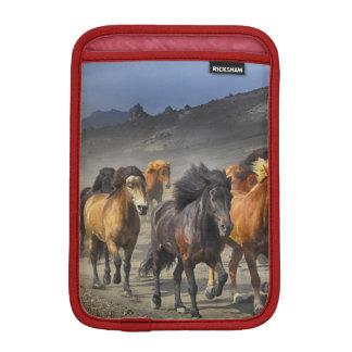 Horses in a shoot iPad mini sleeve