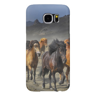 Horses in a shoot samsung galaxy s6 cases